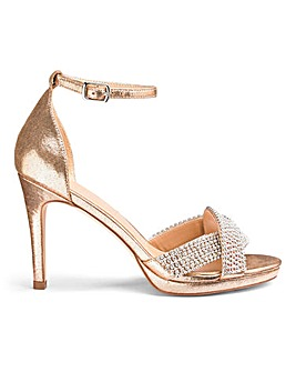 Edita Diamante Trim Heels Extra Wide Fit