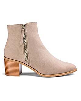 Sunday Side Zip Boots Wide Fit