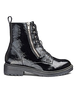 Markle Side Zip Patent Boot Wide Fit