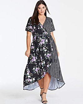 Dipped Back Wrap Dress