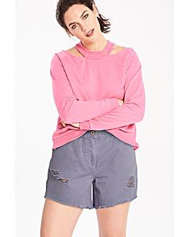 Fern Distressed Denim Shorts