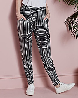 Stripe Jersey Harem Trousers Short