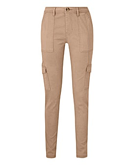 Petite Tapered Cargo Trousers