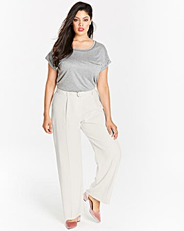 D Ring Belted Wide Leg Trousers Reg
