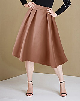 Satin Prom Skirt with Pockets