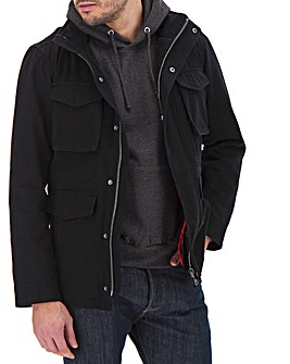 Black 2 in 1 Four Pocket Jacket