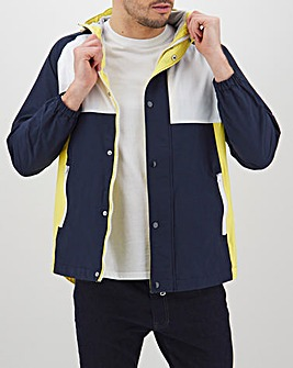 Navy/Yellow Colourblock Hooded Jacket