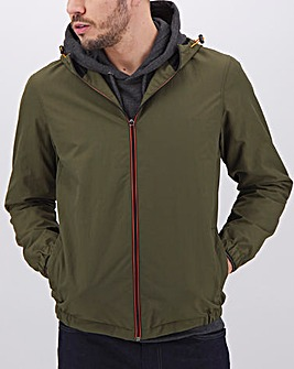 Olive Lightweight Hooded Jacket