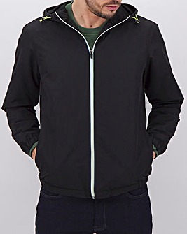 Black Lightweight Hooded Jacket
