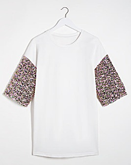 Confetti Sequin Sleeve Sweat Tunic