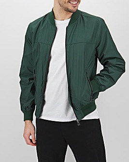 Green Tipped Bomber Jacket