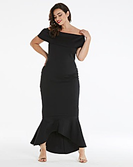 Simply Be by Night Bardot Peplum Dress