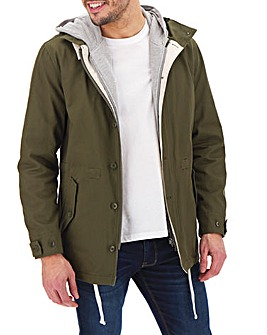 Olive Cotton Parka