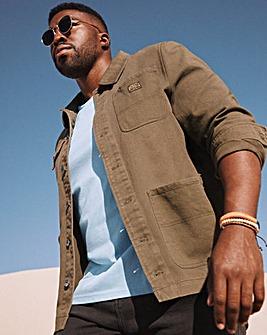 Khaki Canvas Workwear Jacket