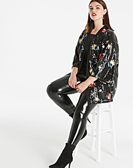 Simply Be Embroidered Sequin Kimono