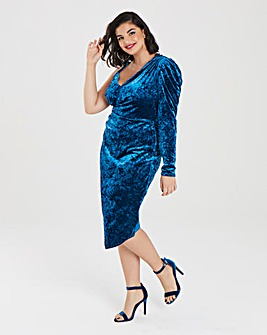 Simply Be Crushed Velvet Wrap Dress