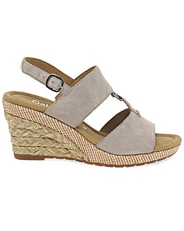 Gabor Keira Wider Fit Wedge Heel Sandals