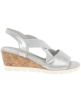 Gabor Nancy Wider Fit Wedge Heel Sandals