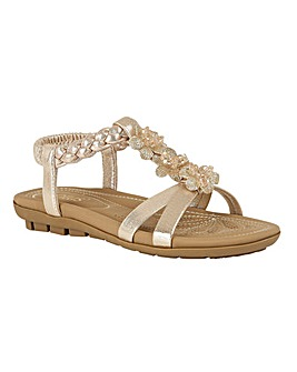 Lotus Margarita Open-Toe Sandals