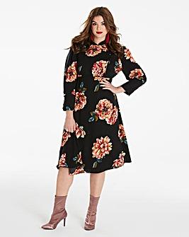 Simply Be Oriental Midi Dress