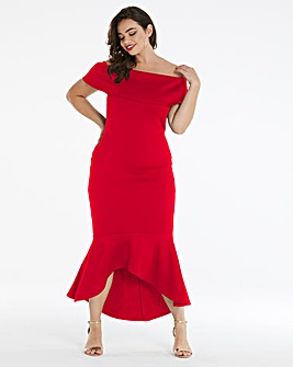 Simply Be by Night Bardot Peplum Dress