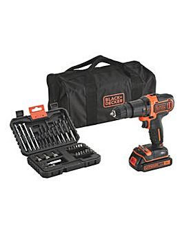 Black + Decker 18V Combi Drill Set