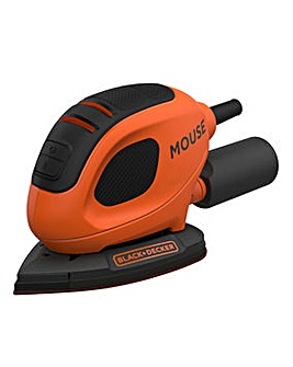 Black + Decker 55W Mouse Sander with 6 x Sanding Sheets