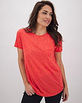 Coral Burnout T Shirt