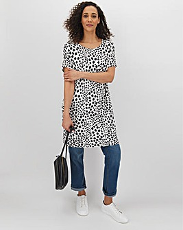 Mono Short Sleeve Side Pocket Tunic