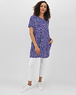 Navy Short Sleeve Side Pocket Tunic