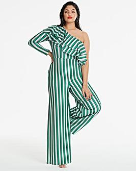 Stripe Asymmetric Jumpsuit