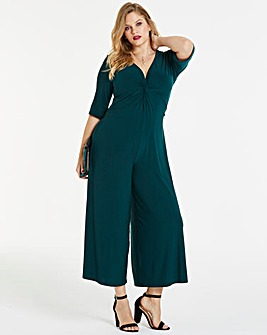 Simply Be By Night Forest Green Jumpsuit