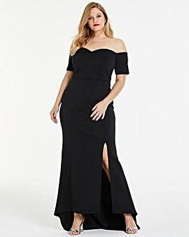 Simply Be By Night Bardot Maxi Dress
