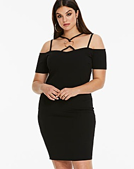 Simply Be By Night Harness Detail Dress