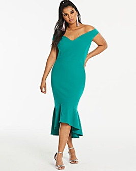 Simply Be By Night Bardot Fishtale Dress