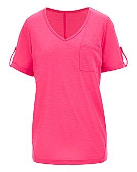 Pink Linen T Shirt