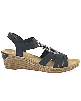 Rieker Trio Standard Fit Wedge Sandals