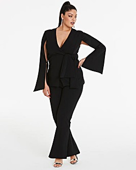 Simply Be By Night Side Split Cape Blazer