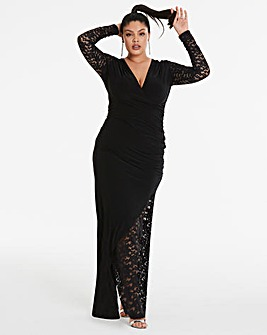 Simply Be By Night Lace Insert Dress