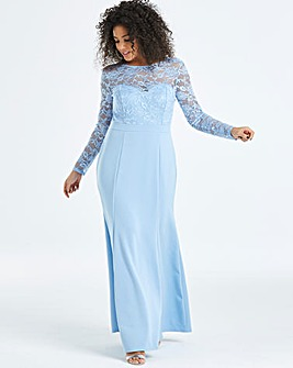 Simply Be By Night Lace Fishtale Dress