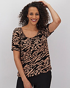 Animal Print Gypsy Top