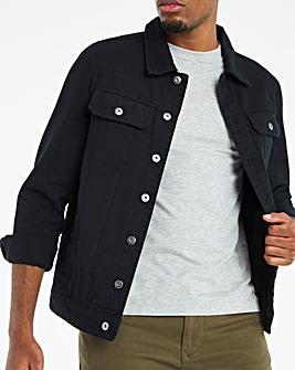 Black Twill Trucker Jacket