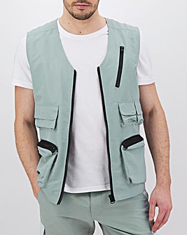 Slate Recycled Utility Gilet