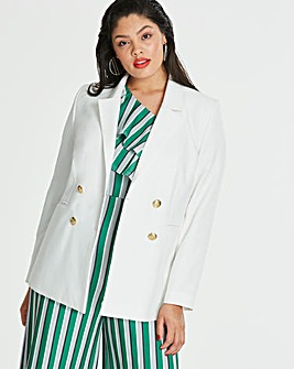Jacket with Gold Button Detail