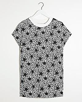 Printed High Neck T-Shirt