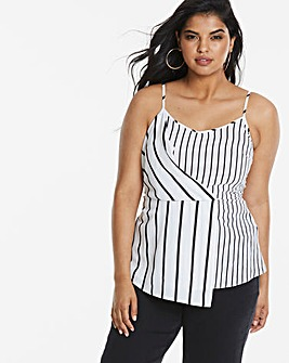 Ax Paris Curve Stripe Cami Top