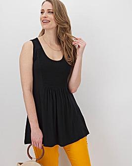 Black Sleeveless Vest Tunic