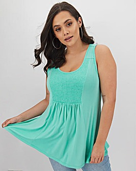 Aqua Sleeveless Vest Tunic