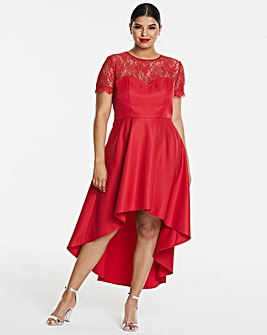 Chi Chi London Lace Dip Back Dress