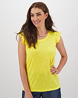 Yellow Ruffle Vest
